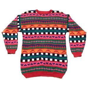 Vintage Westbound Stripe Oversized Grandpa Sweater